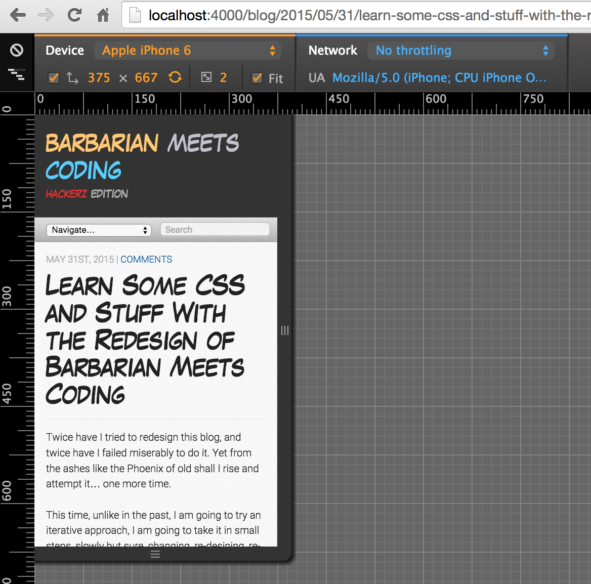 Keeping the old mobile version of barbarian meets coding