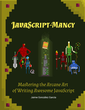 a JavaScriptmancy sample cover
