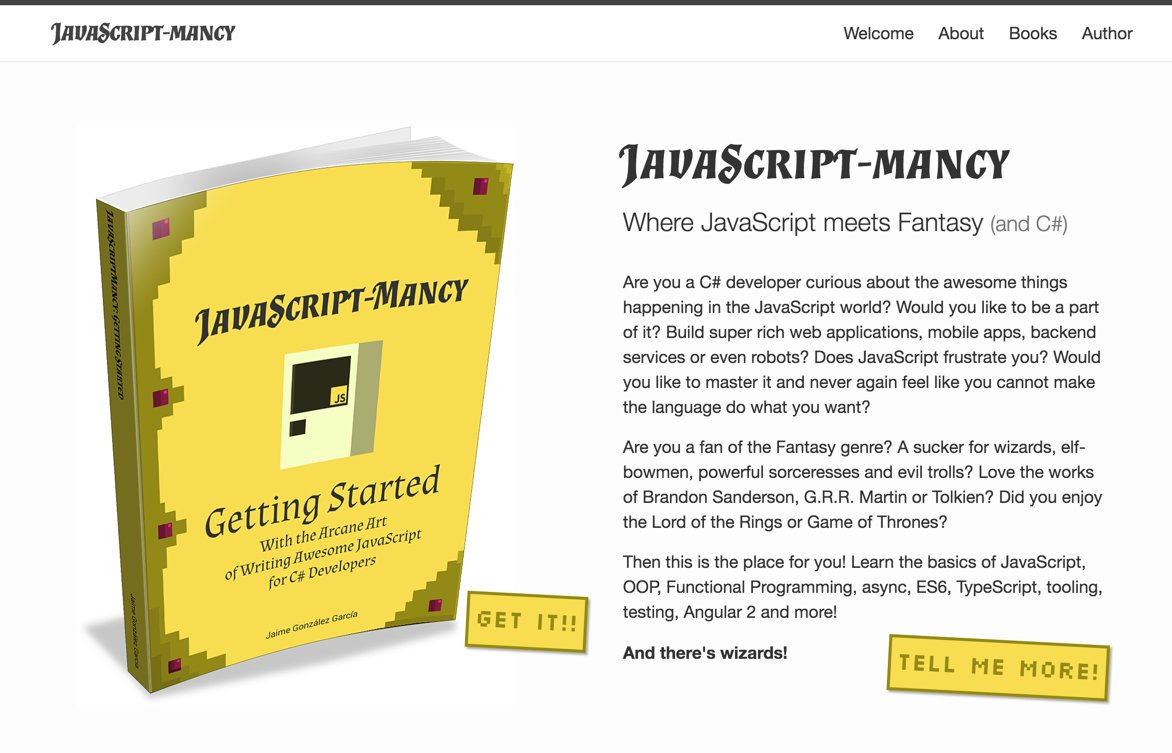The JavaScriptmancy.com website