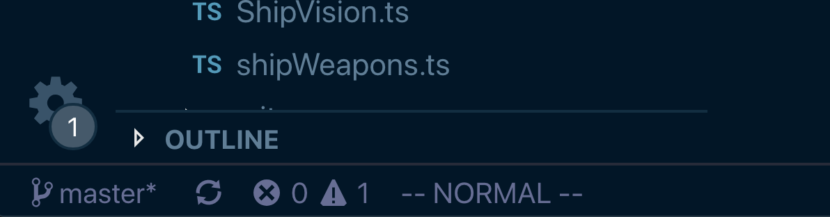 Normal mode in VSCodeVim