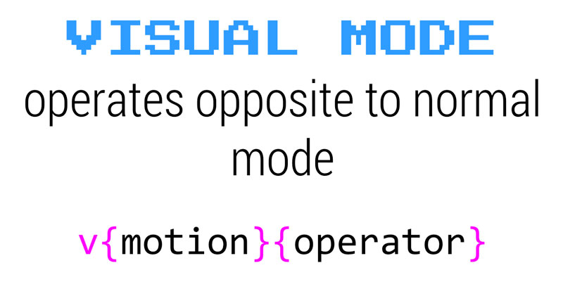 Visual mode is opposite to Normal mode