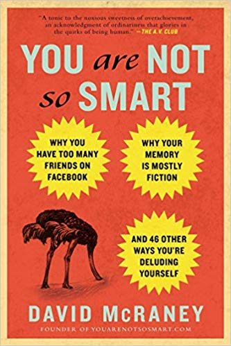 The book cover for You're not so smart with an ostrich hiding its head in the ground